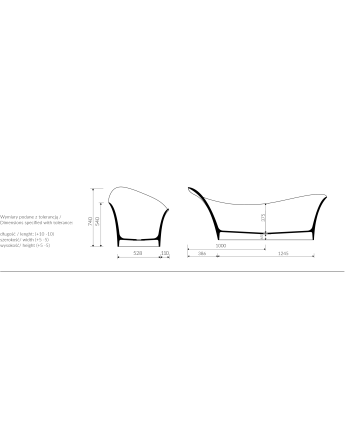 3. WANNA WOLNOSTOJĄCA MARMORIN ALICE I 179x75x74