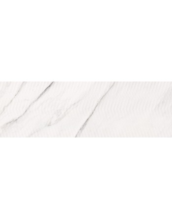 OPOCZNO CARRARA CHIC WHITE CHEVRON STRUCTURE GLOSSY29x89 GAT.1