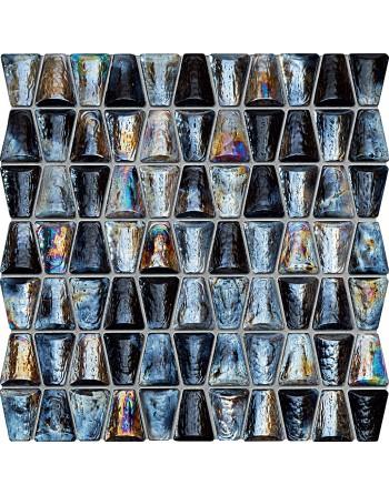 TUBĄDZIN  DROPS GLASS GREY 30,4X30,6 GAT.1